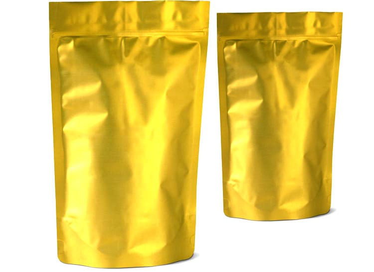 Gold Stand Up Pouches