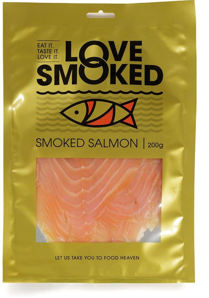 gold printed salmon pouches