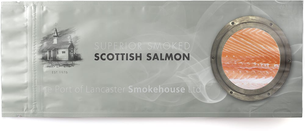 printed salmon pouches packaging
