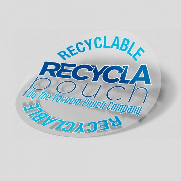 recyclable vacuum pouch stickers