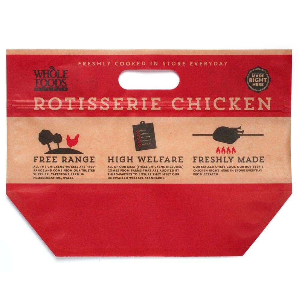 roast chicken printed standup pouch