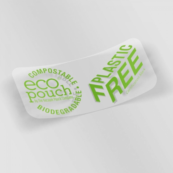 eco pouch biodegradable stickers
